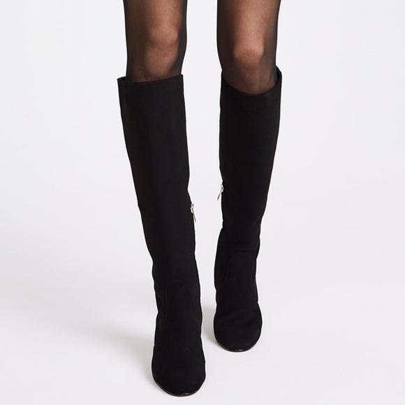 3a3531f26c2cda Sam Edelman Thora Black Suede Tall Boots. M 5bea3adae944bac0ad7adc5e